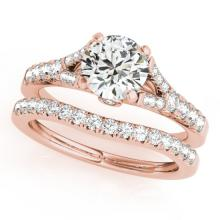 1.06 CTW Certified VS/SI Diamond Solitaire 2Pc Wedding Set 14K Gold - REF-96M5F - 31743