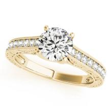 1.32 CTW Certified VS/SI Diamond Solitaire Ring 18K Yellow Gold - REF-371Y3X - 27560
