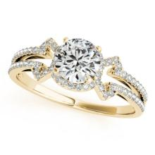 0.9 CTW Certified VS/SI Diamond Solitaire Ring 18K Yellow Gold - REF-134A9N - 27968