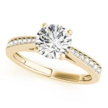 0.75 CTW Certified VS/SI Diamond Solitaire Ring 18K Yellow Gold - REF-119R6K - 27614