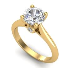 1.6 CTW VS/SI Diamond Art Deco Ring 18K Gold - REF-555H2W - 37294