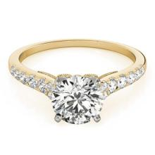 0.75 CTW Certified VS/SI Diamond Solitaire Ring 18K Yellow Gold - REF-83R6K - 27494