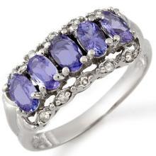 Lot 6108: 1.80 ctw Tanzanite & Diamond Ring 18K White Gold - REF-52V7Y - SKU:10679