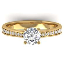 Lot 6133: 1.01 ctw VS/SI Diamond Art Deco Ring 14K Yellow Gold - REF-176H5M - SKU:30383