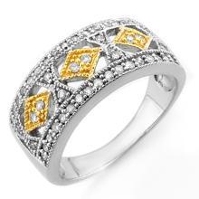 Lot 6156: 0.50 ctw VS/SI Diamond Ring 10K 2-Tone Gold - REF-45W6H - SKU:11695