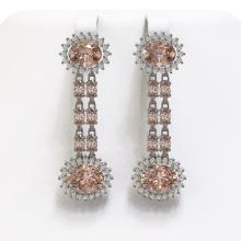 Lot 6170: 11.02 ctw Morganite & Diamond Earrings 14K White Gold - REF-258H2M - SKU:44465