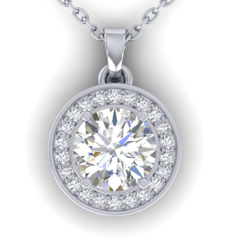 Lot 6176: 0.96 ctw VS/SI Diamond Art Deco Necklace 14K White Gold - REF-180R2K - SKU:30357