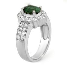 Lot 6023: 2.35 ctw Green Tourmaline & Diamond Ring 18K White Gold - REF-118Y2X - SKU:10857
