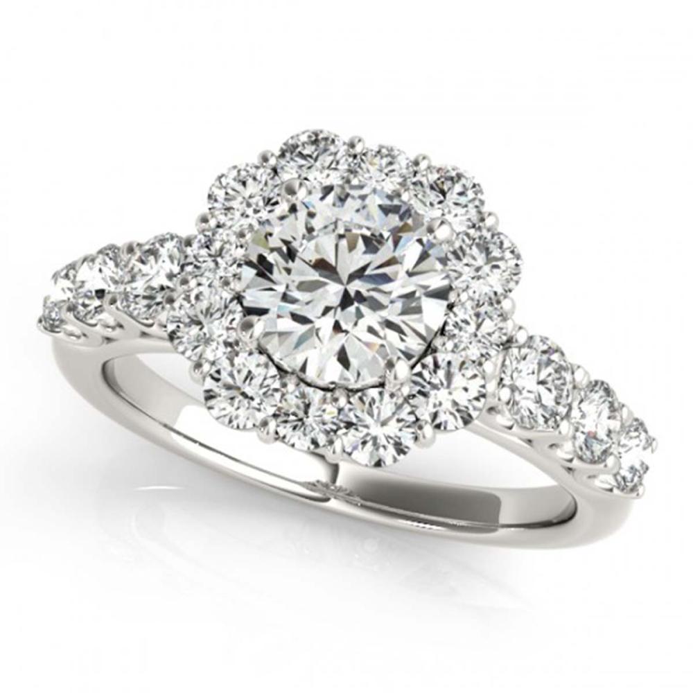 Lot 6025: 3.16 ctw VS/SI Diamond 2pc Wedding Set Halo 14K White Gold - REF-538M6F - SKU:30726