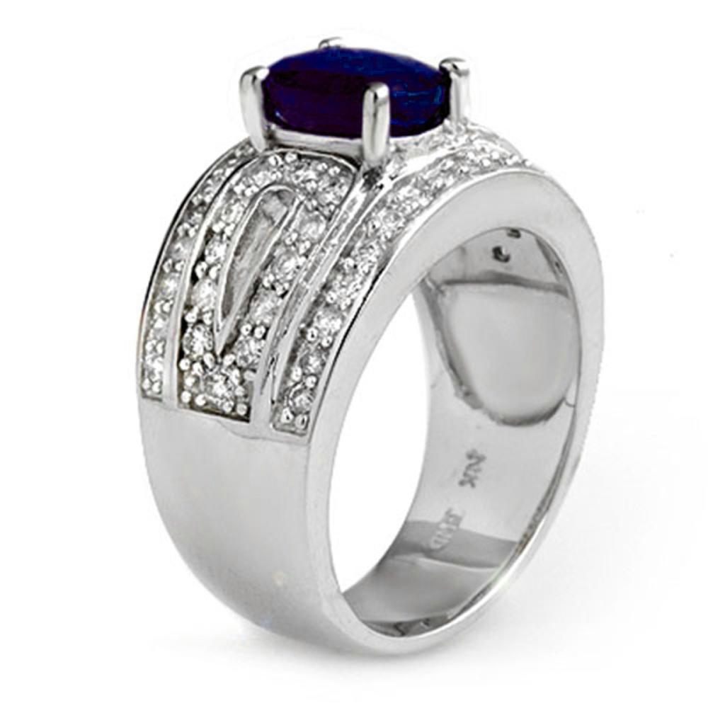 Lot 6034: 2.44 ctw Blue Sapphire & Diamond Ring 14K White Gold - REF-136W4H - SKU:11825