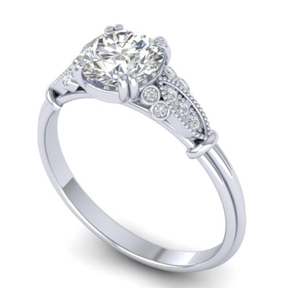 Lot 6051: 1.15 ctw VS/SI Diamond Art Deco Ring 14K White Gold - REF-298M8F - SKU:30549