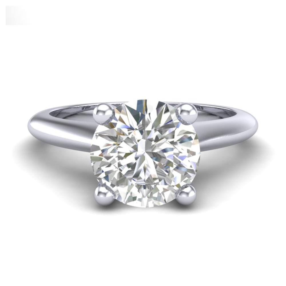 Lot 6066: 1.60 ctw VS/SI Diamond Art Deco Ring 18K White Gold - REF-555M2F - SKU:37292