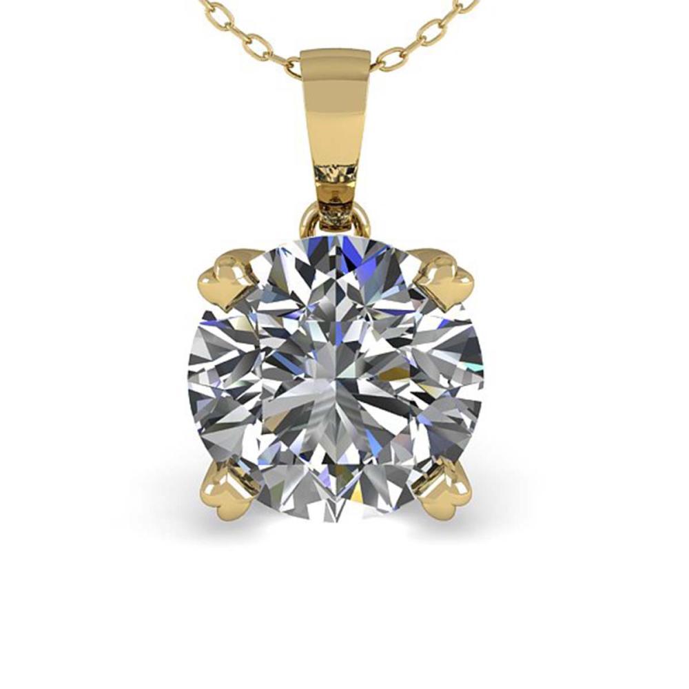 Lot 6099: 1 ctw VS/SI Diamond Necklace 14K Yellow Gold - REF-273V3Y - SKU:38417