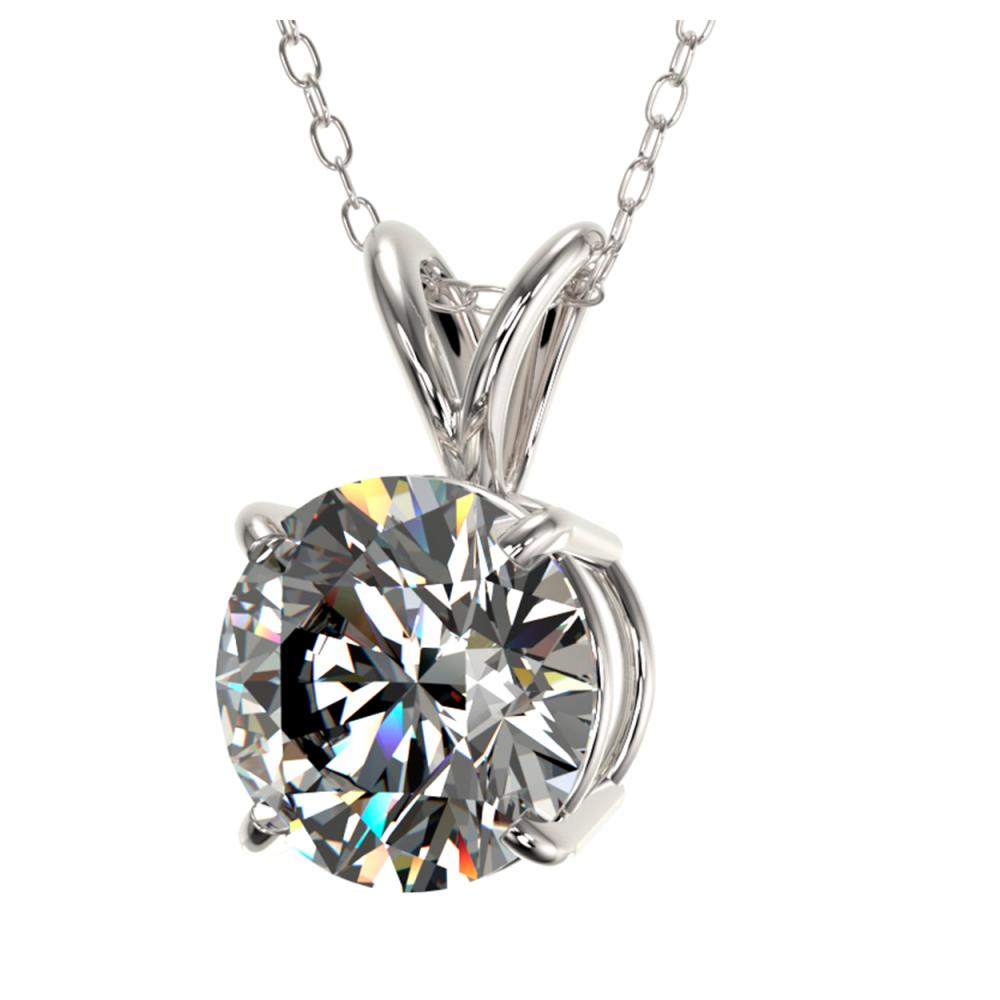 Lot 6174: 1.55 ctw H-SI/I Diamond Necklace 10K White Gold - REF-322V5Y - SKU:36796