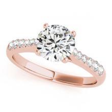Lot 6193: 0.98 ctw VS/SI Diamond 2pc Wedding Set 14K Rose Gold - REF-97V3Y - SKU:31575