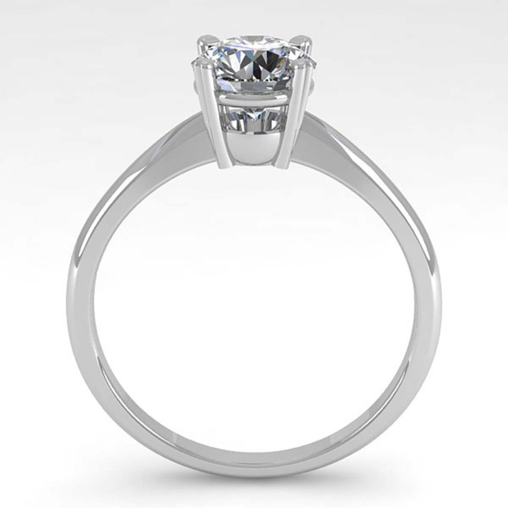 Lot 6005: 1.01 ctw VS/SI Diamond Ring 18K White Gold - REF-284H7M - SKU:32400