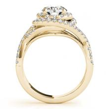 Lot 6003: 2.26 ctw VS/SI Diamond 2pc Wedding Set Halo 14K Yellow Gold - REF-411N5A - SKU:31039