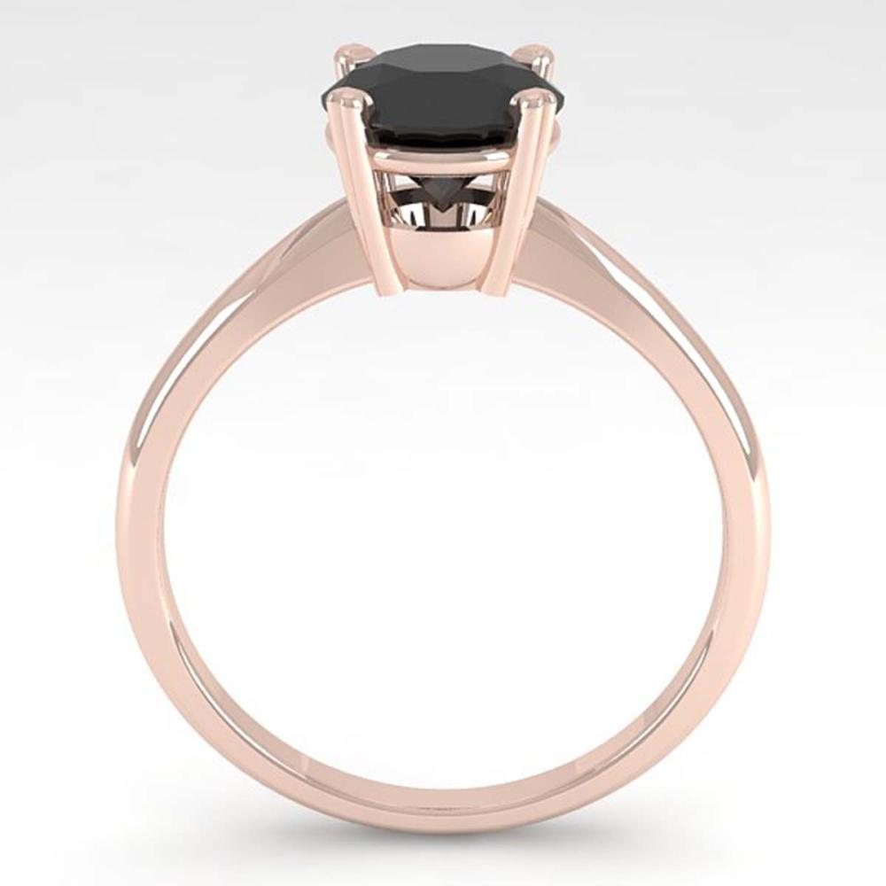 Lot 6012: 1.50 ctw Black Diamond Ring 14K Rose Gold - REF-48X2R - SKU:38469