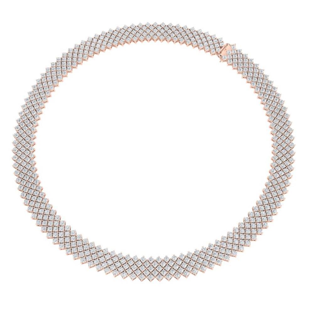 Lot 6039: 40 ctw VS/SI Diamond Necklace 18K Rose Gold - REF-2190H2M - SKU:40053