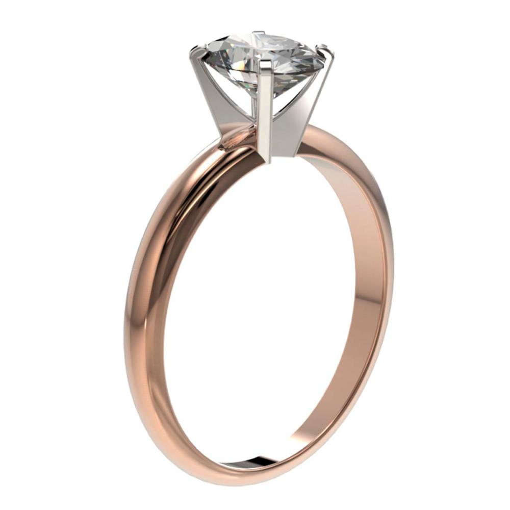 Lot 6089: 1.25 ctw VS/SI Oval Diamond Ring 10K Rose Gold - REF-370W8H - SKU:32914