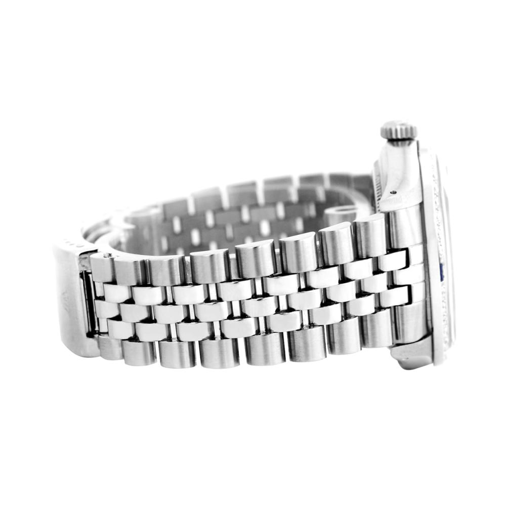 Lot 6100: Rolex Men's Stainless Steel, QuickSet, Diam Dial & Diam/Ruby Bezel - REF-521X6Y