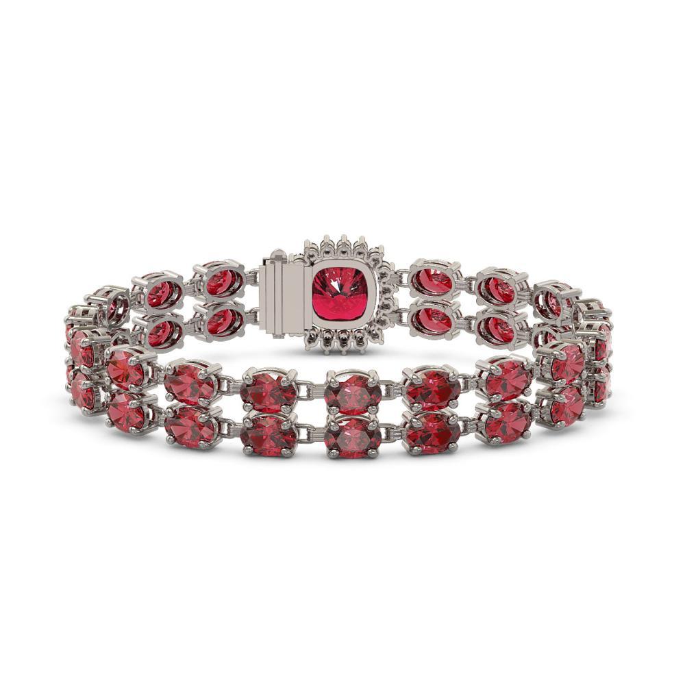 Lot 6186: 17.35 ctw Tourmaline & Diamond Bracelet 14K White Gold - REF-237F8N - SKU:45611