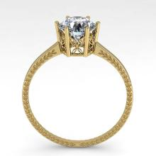 Lot 6199: 1.0 ctw VS/SI Diamond Ring 18K Yellow Gold - REF-283M5F - SKU:35887