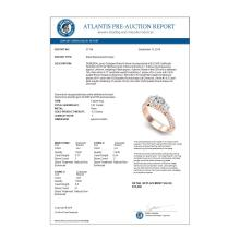Lot 6035: 1.81 ctw VS/SI Diamond Art Deco 3 Stone Ring 18K Rose Gold - REF-272F7N - SKU:37146