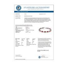 Lot 6038: 10.04 ctw Pink Tourmaline & Diamond Bracelet 14K White Gold - REF-150K2W - SKU:10755