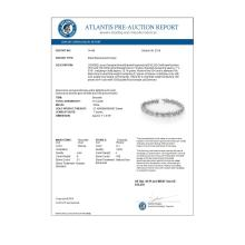 Lot 6043: 10.0 ctw Tanzanite & Diamond Bracelet 18K White Gold - REF-393R3K - SKU:14446
