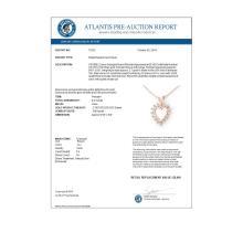 Lot 6060: 0.50 ctw VS/SI Diamond Pendant 18K Rose Gold - REF-48Y2X - SKU:13312