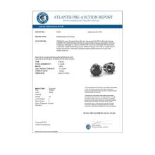 Lot 6078: 2.0 ctw Black Diamond Stud Solitaire Earrings 18K White Gold - REF-73X5R - SKU:35691