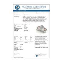 Lot 6079: 0.92 ctw VS/SI Diamond 2pc Set Solitaire Halo 14K White & Rose Gold - REF-91K4W - SKU:31029
