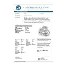 Lot 6135: 2.29 ctw VS/SI Diamond 2pc Wedding Set Halo 14K White Gold - REF-326W3H - SKU:31187