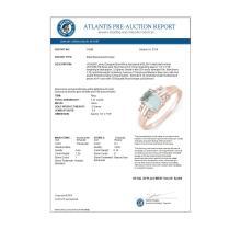 Lot 6139: 1.41 ctw Aquamarine & Diamond Ring 18K Rose Gold - REF-42X7R - SKU:10588
