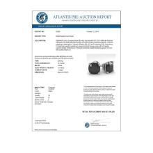 Lot 6173: 12 ctw Cushion Black Diamond Stud Earrings 14K White Gold - REF-267N2A - SKU:38395