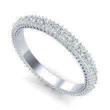 2.50 CTW VS/SI Diamond Art Deco Eternity Men'S Band Size 10 18K Gold - 37208-REF-A200M0