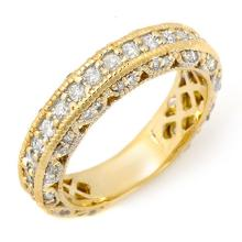 1.10 ctw Certified VS/SI Diamond Band 14K Yellow  Gold - REF#-102F7V-11744