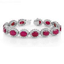 42.12 ctw Ruby & Diamond Bracelet 14K White  Gold - REF#-527R3H-14054