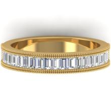 1 CTW BAGUETTE VS/SI DIAMOND ART DECO ETERNITY BAND 14K SIZE 7 Gold - REF#-111K5W-30317