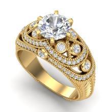 2 CTW VS/SI DIAMOND BRIDAL SOLITAIRE ART DECO RING 18K Gold - REF#-581X8T-37114