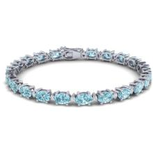 25.8 CTW SKY BLUE TOPAZ & VS/SI CERTIFIED DIAMOND ETERNITY BRACELET Gold - REF#-118Y4M-29466