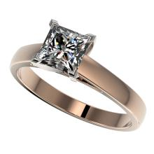 1.25 CTW Certified VS/SI Quality Princess Diamond Solitaire Ring Gold - REF#-372Y3M-33014