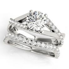 1.06 CTW Certified VS/SI Diamond Solitaire 2pc Wedding Set  14K Gold - REF#-137G3N-31619