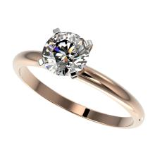 1 CTW Certified G-SI Quality Diamond Solitaire Engagment Ring Gold - REF#-134R2H-32885