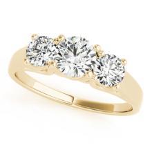 1.3 CTW Certified VS/SI Diamond 3 stone Bridal  Ring 18K Yellow Gold Gold - REF#-235F3V-28055