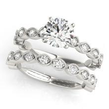2.27 CTW Certified VS/SI Diamond Solitaire 2pc Wedding Set  14K Gold - REF#-525X5T-31616