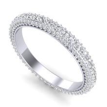 2.10 CTW VS/SI DIAMOND ART DECO ETERNITY ETERNITY RING 18K Gold - REF#-181R5H-37211