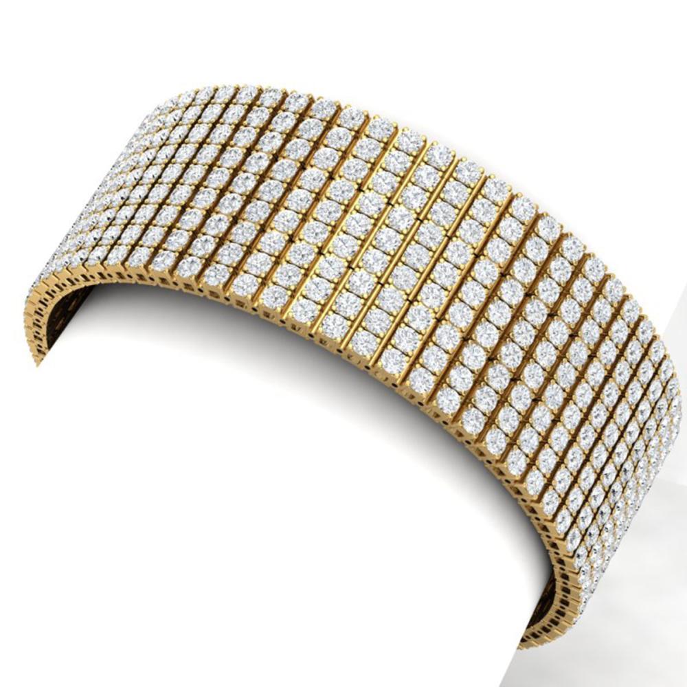 43 CTW VS/SI Diamond Unisex 8 Inches Bracelet 18K Gold - REF-2310M2F - SKU:39970
