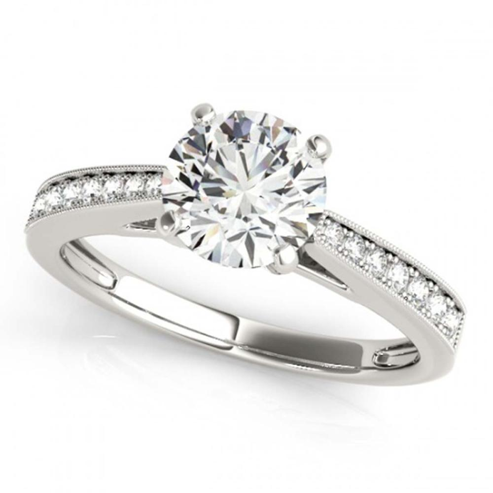 0.75 CTW VS/SI Diamond Solitaire Ring 18K White Gold - REF-130M2F - SKU:27612
